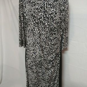 Ralph Lauren plus Size Dress18W Black & Grey